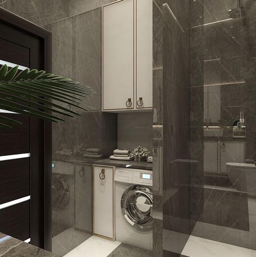 строгий дизайн ванны