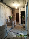 ремонт квартир - построение перегородки